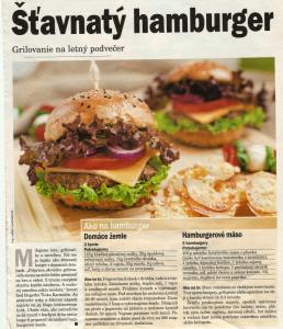 Štavnatý hamburger