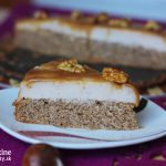 Bezlepková gaštanová tortička s tečúcim karamelom