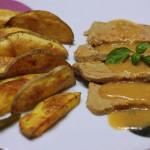 Bravčové karé s pórikovým cappuccinom a pečené zemiaky