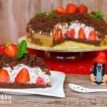Jahodová krtková torta