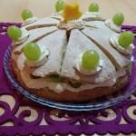 Kiwi - hroznová tortička