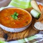 Krúpková polievka so zeleninou