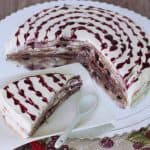 Špaldová palacinková torta s čučoriedkami a pribináčikom