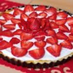 Rebarborový smotanový koláčik